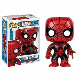 Photo du produit MARVEL COMICS FUNKO POP SPIDER-MAN (RED & BLACK COSTUME)
