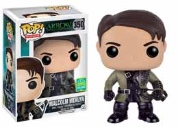 SDCC 2016 FUNKO POP ARROW MALCOLM MERLYN EXCLUSIVE