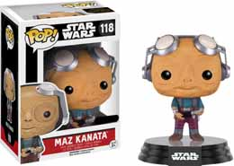 STAR WARS EPISODE VII POP! VINYL BOBBLE-HEAD FIGURE MAZ KANATA NO GLASSES LIMITED
