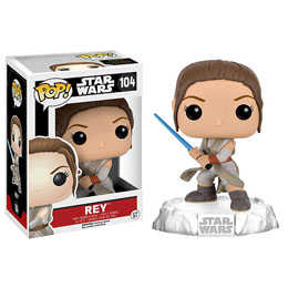 STAR WARS EPISODE VII POP! VINYL BOBBLE HEAD REY (BATTLE POSE)