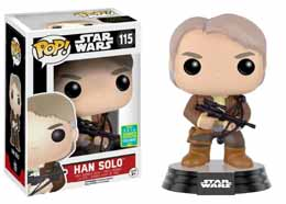SDCC 2016 FUNKO POP STAR WARS HAN SOLO WITH CHEWIE BOWCASTER EXCLUSIVE