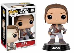 STAR WARS EPISODE VII FUNKO POP! BOBBLE HEAD REY FINAL SCENE LIGHTSABER HILT