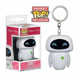 WALL-E PORTE-CLES POCKET POP! VINYL EVE