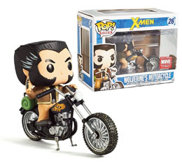 X-MEN POP! RIDES VEHICULE AVEC FIGURINE MOTORCYCLE & WOLVERINE