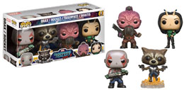 MARVEL  FUNKO POP GARDIENS DE LA GALAXIE VOL 2 4-PACK DRAX MANTIS ROCKET TASERFACE  EXCLU USA