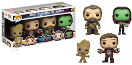 MARVEL  FUNKO POP GARDIENS DE LA GALAXIE VOL 2 4-PACK STAR-LORD GROOT GAMORA EGO EXCLU USA