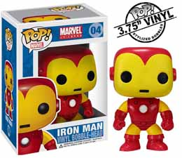 FIGURINE FUNKO POP MARVEL BOBBLE-HEAD IRON MAN