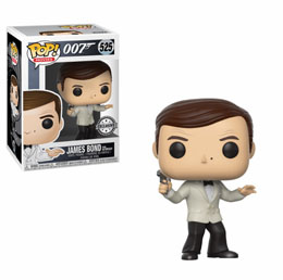 FUNKO POP JAMES BOND (FROM OCTOPUSSY) ROGER MOORE WHITE TUX EXCLUSIVE