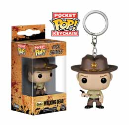 PORTE CLE FUNKO POP POCKET THE WALKING DEAD RICK GRIMES 4 CM