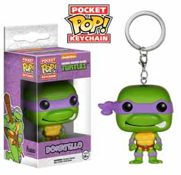PORTE CLE TMNT TORTUES NINJA DONATELLO POCKET POP 4 CM
