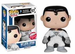 DC HEROES VINYL POP WHITE LANTERN SUPERMAN FIGURINE 9CM EXCLU