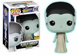 CLASSIC MONSTERS POP BRIDE OF FRANKENSTEIN GLOW IN THE DARK FIGURINE 9CM FU