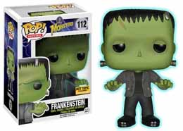 CLASSIC MONSTERS POP FRANKENSTEIN GLOW IN THE DARK FIGURINE 9CM FUNKO EXCLU