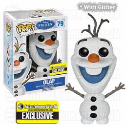 DISNEY POP FROZEN LA REINE DES NEIGE OLAF GLITTER 9CM EXCLU ENTERTAINMENT E