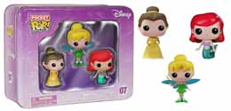 DISNEY POP POCKET POP TIN 3- PACK CLOCHETTE / ARIEL / BELLE