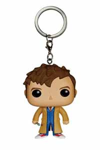 DOCTOR WHO VINYL POCKET POP KEYCHAIN 10TH DOCTOR FIGURINE 4CM