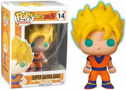 DRAGON BALL Z FUNKO POP SUPER SAIYAN GOKU GLOW IN THE DARK