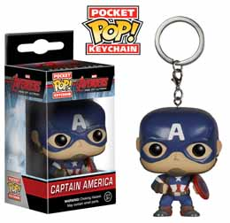 PORTE CLE AVENGERS AGE OF ULTRON POCKET POP CAPTAIN AMERICA 4 cm