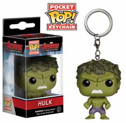 PORTE CLE AVENGERS AGE OF ULTRON POCKET POP HULK 4 cm