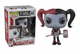 DC HEROES VINYL POP BATMAN HARLEY QUINN ROLLER DERBY EXCLU HOT TOPIC
