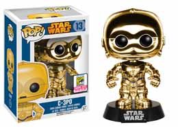 STAR WARS POP C3PO GOLD SDCC 2015 FUNKO EXCLUSIVE
