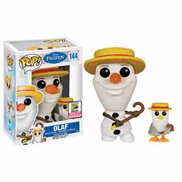 Funko Pop SDCC Frozen Olaf & Seagull Barbershop Quartet in Hand