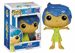 DISNEY POP INSIDE OUT VICE VERSA JOY GLITTER SDCC 2015 EXCLU