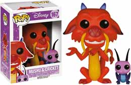 FUNKO POP DISNEY MULAN MUSHU ET CRICKET