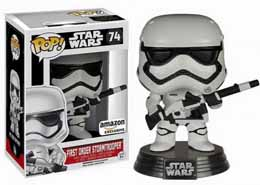 FUNKO POP STAR WARS EPISODE 7 FIRST ORDER STORMTROOPER WITH BLASTER EXCLU