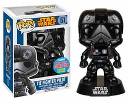 Star Wars Funko Pop Tie Fighter Black Chrome NYCC 2015 Funko Exclu