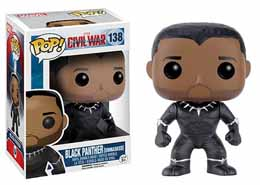 Captain America Civil War Funko Pop Black Panther Unmasked Edition Limitée