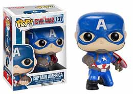 Captain America Civil War Funko Pop Action Pose Cap Edition Limitée