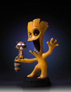 MARVEL COMICS MINI STATUETTE GROOT & ROCKET 16 CM