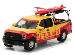BAYWATCH 2016 FORD F-150 EMERALD BAY BEACH PATROL 1/64 MÉTAL