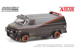 A-TEAM 1983 GMC VANDURA WEATHERED VERSION 1/64 MÉTAL