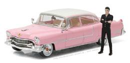 ELVIS PRESLEY 1955 CADILLAC FLEETWOOD SERIES 60 PINK CADILLAC 1/43 METAL AVEC FIGURINE
