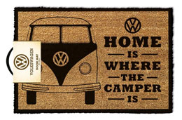 PAILLASSON VOLKSWAGEN HOME IS WHERE THE CAMPER IS 40 X 60 CM