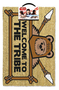 STAR WARS PAILLASSON WELCOME TO THE TRIBE EWOK 40 X 57 CM