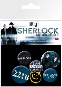PACK DE 6 BADGES SHERLOCK