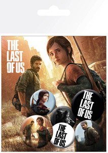 PACK DE 6 BADGES THE LAST OF US ELLIE AND JOEL