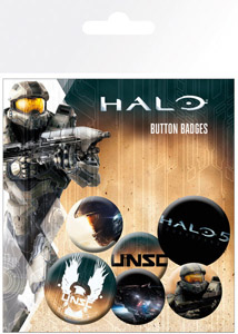 PACK DE 6 BADGES HALO 5