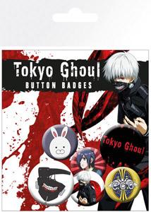 PACK DE 6 BADGES TOKYO GHOUL
