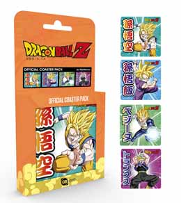DRAGONBALL Z PACK 4 SOUS-VERRES MIX