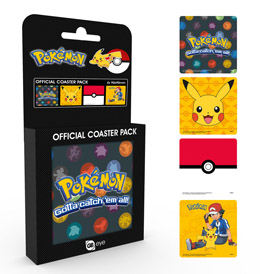 POKEMON PACK 4 SOUS-VERRES MIX