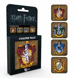 COFFRET DE 4 SOUS VERRES HARRY POTTER CRESTS