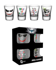 BATMAN THE DARK KNIGHT COFFRET 4 VERRES A LIQUEUR