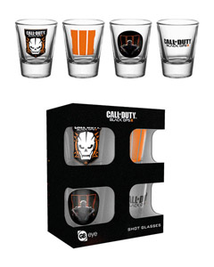 CALL OF DUTY BLACK OPS III COFFRET 4 VERRES A LIQUEUR