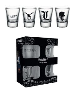 Photo du produit DEATH NOTE COFFRET 4 VERRES À LIQUEUR MIX