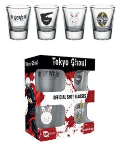 TOKYO GHOUL COFFRET 4 VERRES À LIQUEUR MIX