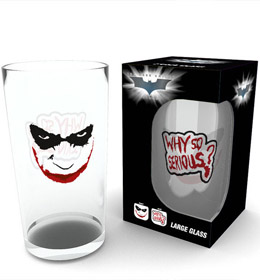 BATMAN THE DARK KNIGHT VERRE WHY SO SERIOUS
